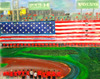 Fenway Park Art Gallery Photo-Encaustic on Panel