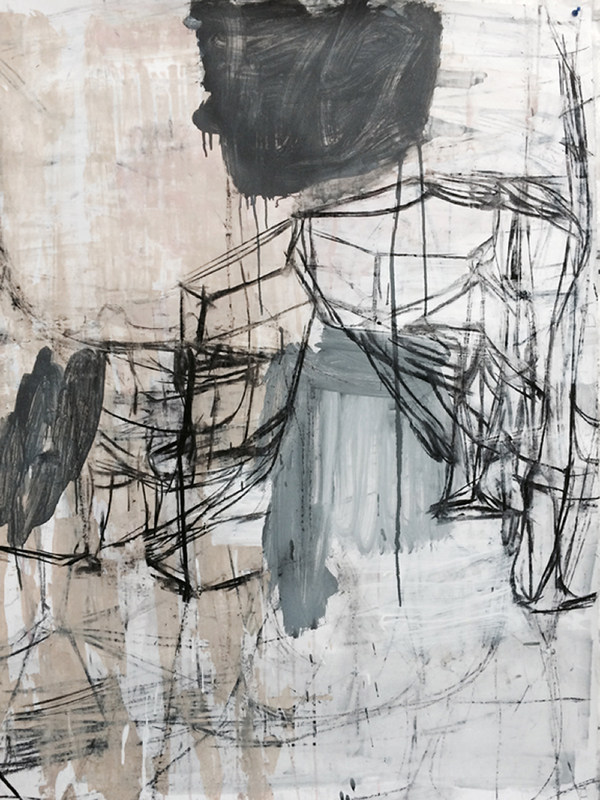deborah dancy Work on Paper  Charcoal, gesso, acrylic on paper