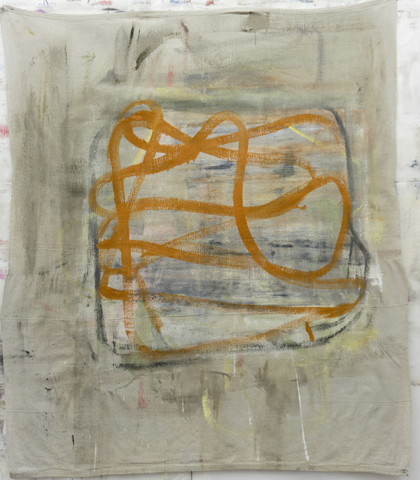 deborah dancy Paintings  Acrylic, charcoal on canvas dropcloth