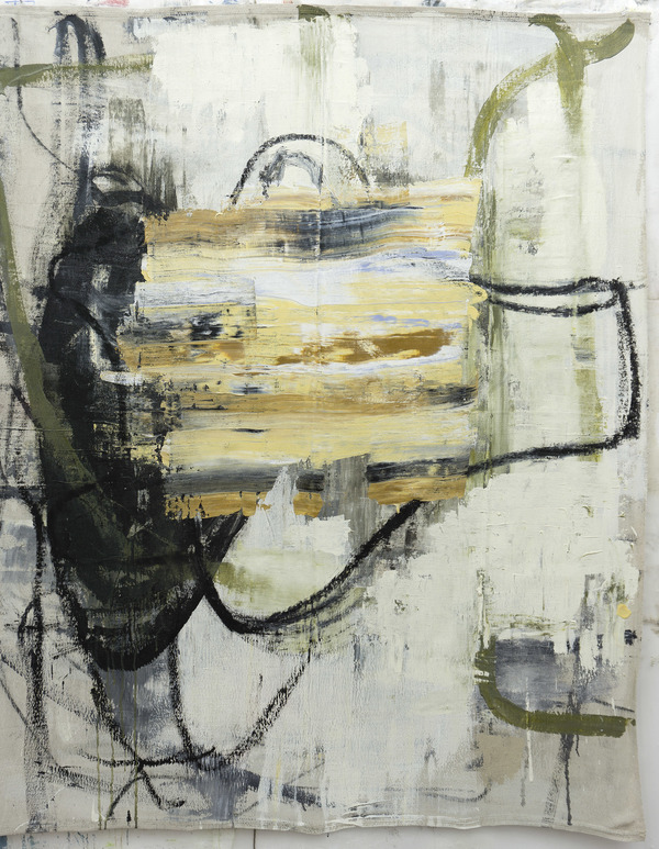 deborah dancy Paintings  Acrylic, charcoal on canvas drop cloth