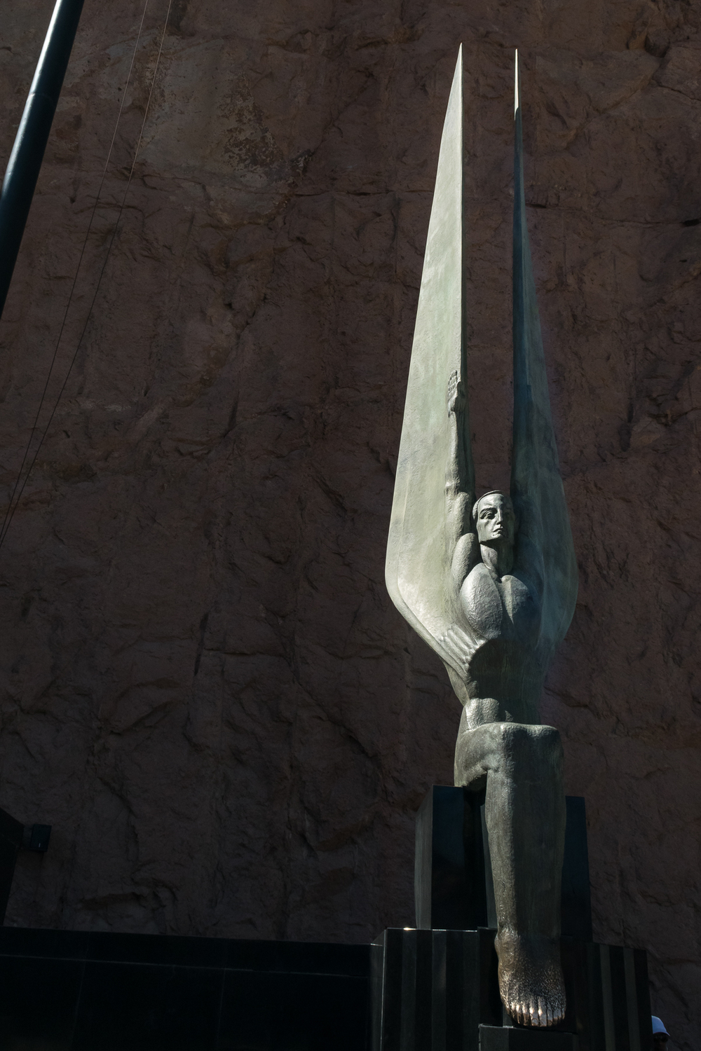 Hoover Dam Winged Figure of the Republic, Monument of Dedication Plaza; Sculptor Oskar Hansen