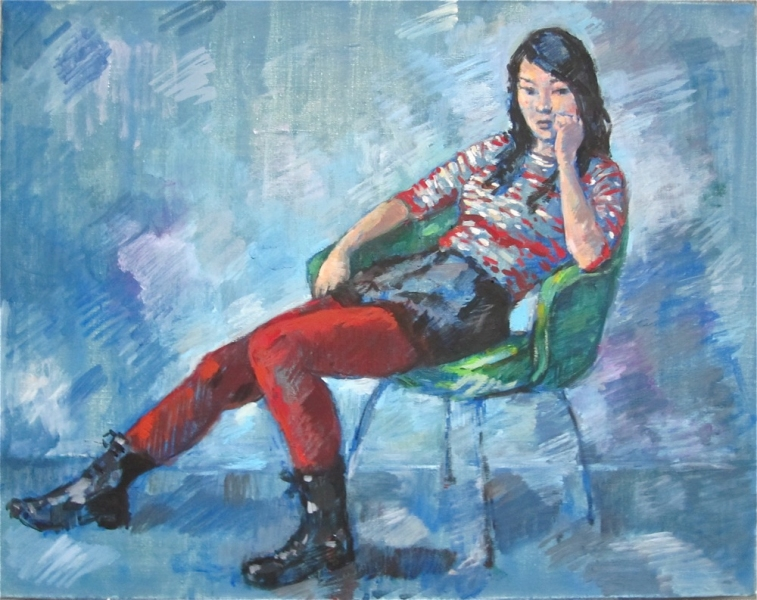 Deborah Sherman Portraits and Figures oil on linen