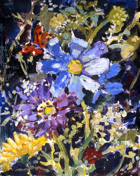 Deborah Sherman Flowers oil