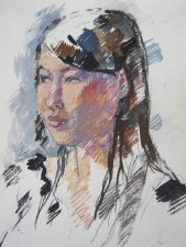 Deborah Sherman Portraits and Figures gouache