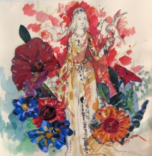 Deborah Sherman Fantasy Watercolor and collage