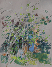 Deborah Sherman Landscapes Gouache on grey paper