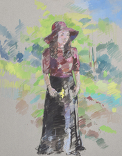 Deborah Sherman Portraits and Figures Gouache on board