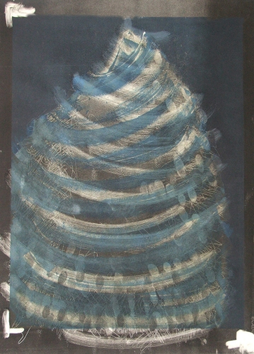 Debra Radke Vortex Phenomenon Monotype on Somerset