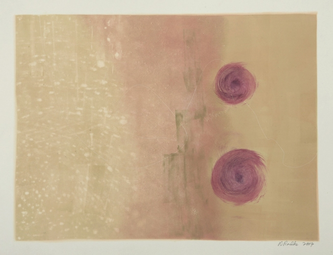 Debra Radke Landscape Phenomenon  Monotype on Rives BFK