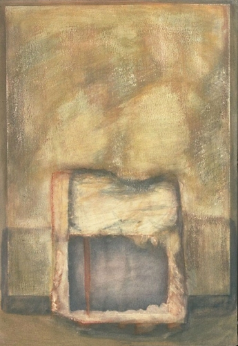Debra Radke Thresholds Acrylic, graphite and paper on canvas