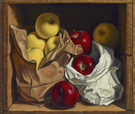 Denise Mickilowski Fruit and Vegetable Paintings oil on panel