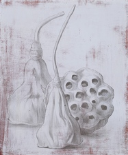 Denise Mickilowski Drawings silverpoint