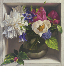 Denise Mickilowski  Flower Paintings oil on panel