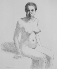 Denise Mickilowski Drawings charcoal