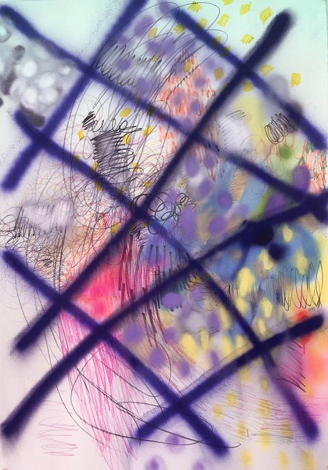 Works on Paper Purple grid
