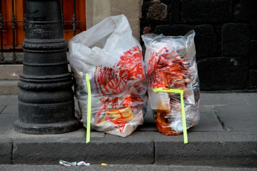Street Interventions/Ongoing Chili bags