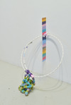 """DelanceyLudlowRivingtonNorfolk"" Glazed ceramic, tape, plastic tubing, flexible rubber tubing, plexiglass, and spray paint"