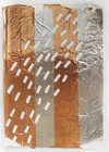 Works on Paper Aluminum and copper duct tape, correction tape on paper