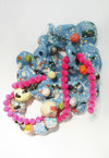Elizabeth Foundation for the Arts Glazed ceramics, glitter, resin, pompoms