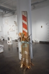 Split Ends (MFA thesis show) Found objects, spray paint and paint on column