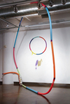 Selected Works Found hula-hoop and furniture, swimming pool noodles, tape, spray paint,