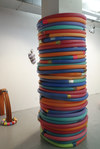 Elizabeth Foundation for the Arts Swimming pool noodles, tape, concrete column