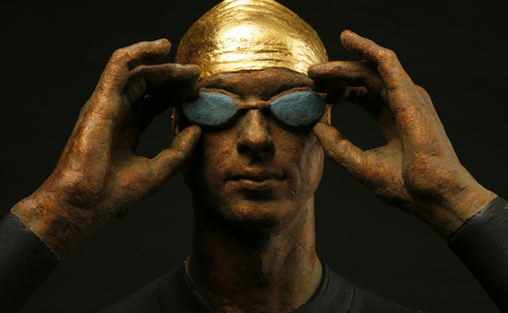 deon duncan   swim series Bronze and Gold Leaf