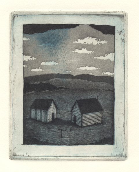 DIANA MARIE BEHL  The Yard Intaglio