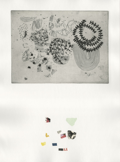 DIANA MARIE BEHL  recent editions Intaglio with Collage