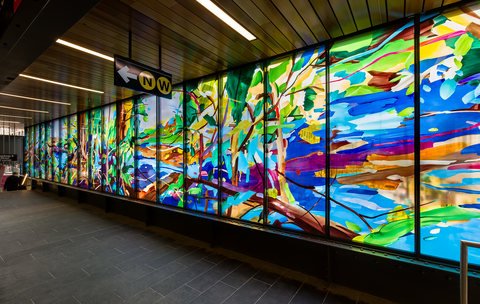 DIANE CARR MTA Art & Design Commission Laminated glass