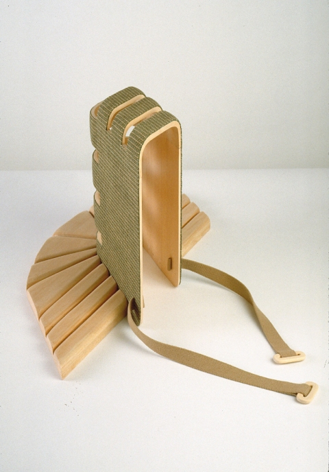 Diane Simpson Headgear (1990-1996) basswood, fabric