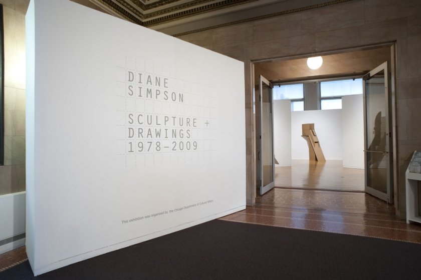 "Diane Simpson Retrospective Exhibition, Chicago Cultural Center, ""Diane Simpson: Sculpture + Drawing 1978 - 2009,""  2010"