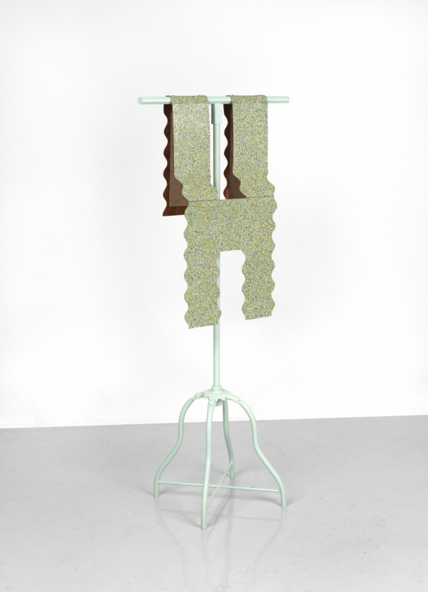 Diane Simpson Corbett vs Dempsey, Chicago, <i>Diane Simpson</i>, 2012 copper. linoleum, steel base, wood, and enamel