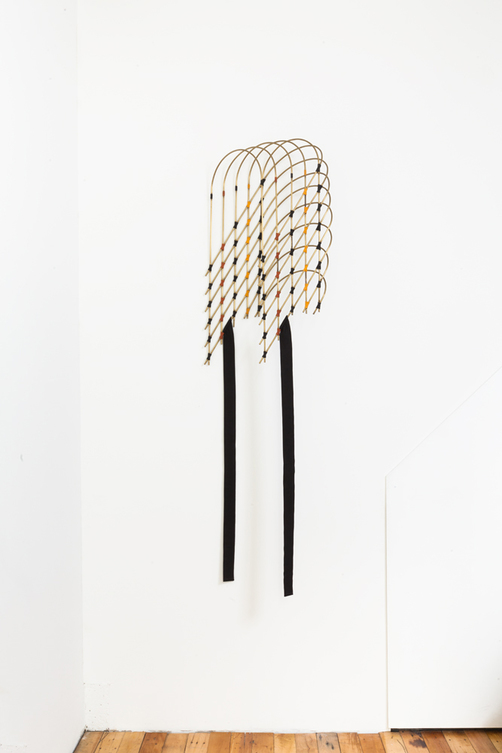 Diane Simpson JTT, New York, <i>Diane Simpson</i>, 2013 brass tube, waxed linen thread, fabric
