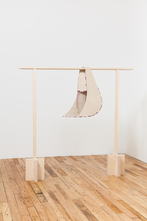 Diane Simpson JTT, New York, <i>Diane Simpson</i>, 2013 linen on wood, nylon cord, pine