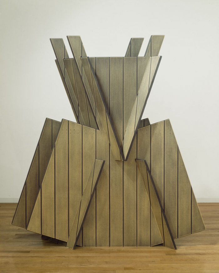 Diane Simpson Samurai (1981-1983) stained MDF