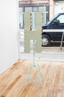 Diane Simpson JTT, New York, <i>Diane Simpson</i>, 2013 copper, linoleum, steel base, wood, enamel
