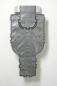 Diane Simpson Bibs, Vests, Collars, Tunic   (2006-2008) vinyl, felt, aluminum, thread