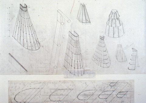 Diane Simpson Historical (1984-1990) pencil on vellum graph paper