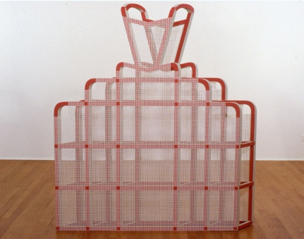 Diane Simpson Historical (1984-1990) stain/acrylic on MDF, cotton mesh