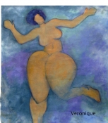 Diane Hardy Waller Paintings: Big Boned Girls Oil on Paper