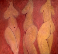 Diane Hardy Waller Paintings: Big Boned Girls Oil on Canvas