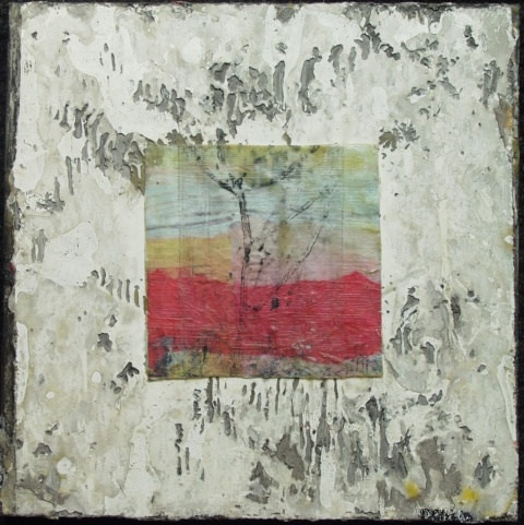 BELFAST BAY SHADE COMPANY designer/maker: Dina Petrillo Birds and Landscapes encaustic, collage & mixed media on panel