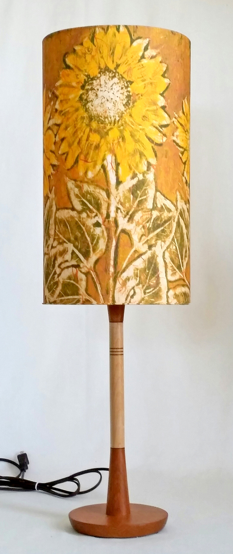 "Table &  Floor Lamps Sunflower gold 9 x 16"" on Sanborn Franklin table lamp"
