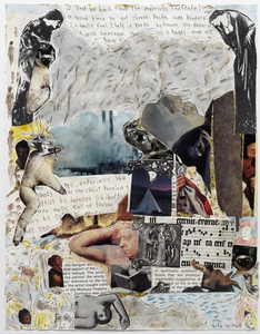 Dominick Anthony Takis Image Gallery 2.             MRI Collages: 2001 - 2004 Acrylic, Watercolor, Cutout Media, Cut MRI Film on Paper