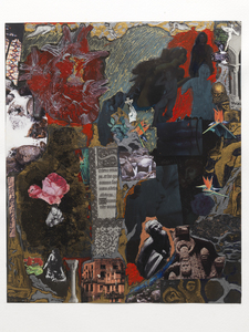 Dominick Anthony Takis Image Gallery 2.             MRI Collages: 2001 - 2004 Acrylic, Oil, Cutout Media, Organic Matter on and behind MRI Film