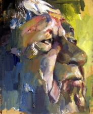 Don Keene Portraits Oil on cardboard