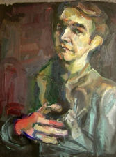 Don Keene Portraits Oil on black cardboard