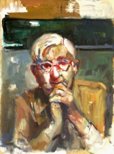 Don Keene Portraits Oil on plywood