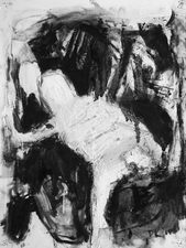 Don Keene Drawings Charcoal and oil medium on paper